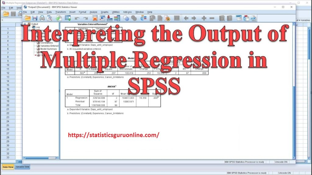 how to interpret spss output